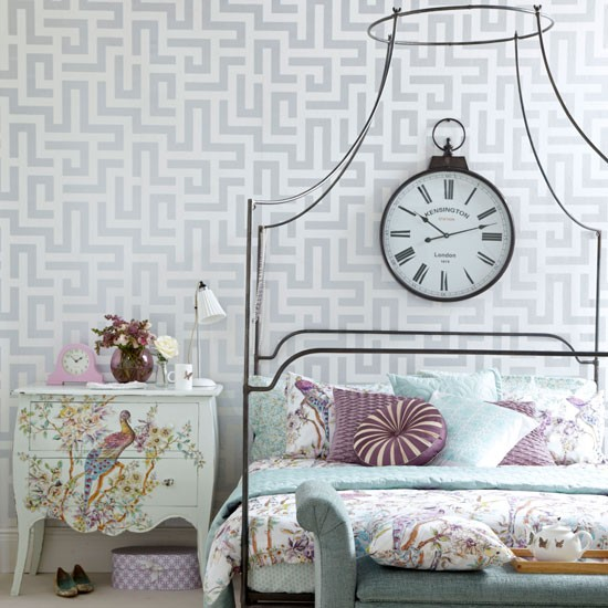 Elegante-vintage-style-dormitorio --- --- Moderna Ideal-Home